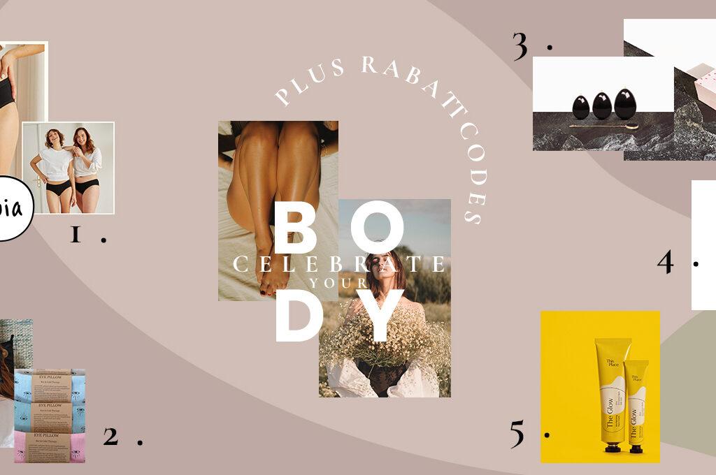 Eine Produktübersicht zum Thema Feier deinen Körper: OOia Periodenunteräsche, Dans la Rue Augenkissen, Liebelei Yoni Eier, StellaMe Fusspads, This Place Flow Creme
