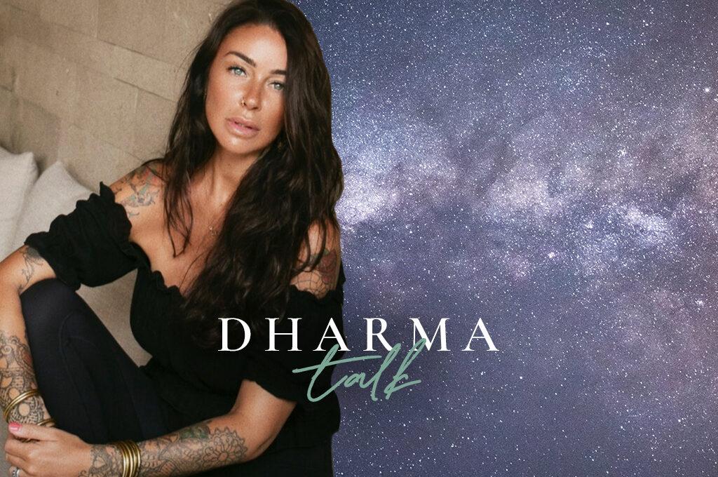 Emma Salvado im Dharma Talk Header